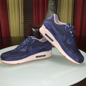 NIKE denim blue Air Max 90 SE